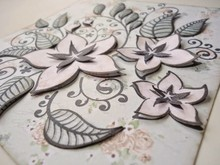 Joy!Crafts und JM Creation I timbri trasparenti, fiori e foglie