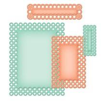 Spellbinders Stanz- und Prägeschablone, Nestabilities, Zierrahmen und Label