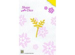 Nellie snellen Punching and embossing template, roses branch