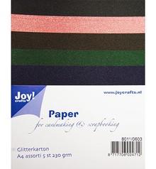 DESIGNER BLÖCKE  / DESIGNER PAPER A4 Glitter cartone