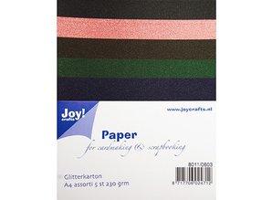 DESIGNER BLÖCKE  / DESIGNER PAPER A4 Glitter cardboard