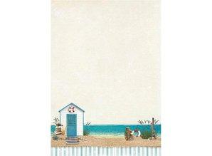 Studio Light A4 baggrund ark - Summer på stranden