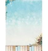 Studio Light Hojas de fondo A4 - verano en la playa