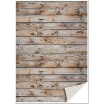 5 ark karton med imiteret træ, mur, brunt karton med imiteret træ, væg, brun
