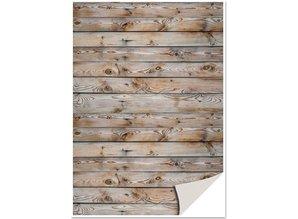 DESIGNER BLÖCKE  / DESIGNER PAPER 5 fogli cartoncini con finto legno, muro di legno, carta marrone stock con finto legno, muro di legno, marrone