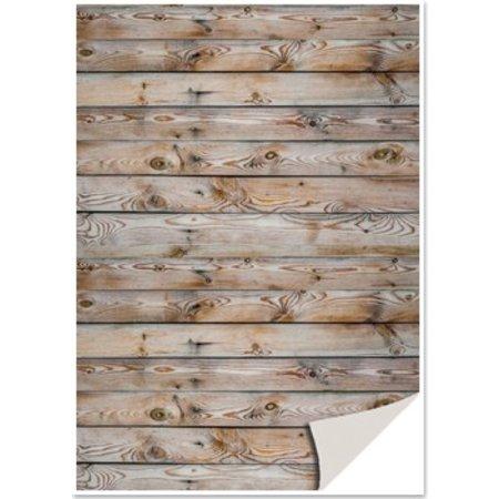 DESIGNER BLÖCKE  / DESIGNER PAPER 5 vel karton met imitatie hout, muur, bruin karton met imitatie hout, houten muur, bruin