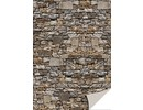 DESIGNER BLÖCKE  / DESIGNER PAPER 5 sheets card stock with stone appearance, natural stone, brown