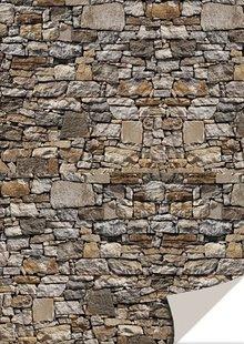 DESIGNER BLÖCKE  / DESIGNER PAPER 5 fogli cartoncini con l'apparenza di pietra, pietra naturale, marrone