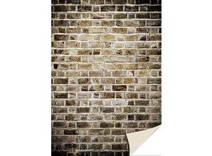 DESIGNER BLÖCKE  / DESIGNER PAPER 5 fogli cartoncini con sguardo di pietra, muro di mattoni, vecchio