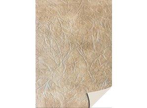DESIGNER BLÖCKE  / DESIGNER PAPER 5 hojas de papel de tarjetas de cuero, de color marrón claro