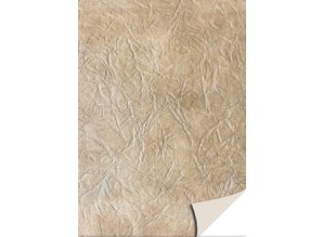 DESIGNER BLÖCKE  / DESIGNER PAPER 5 sheets card stock leather, light brown