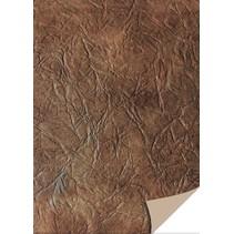 5 ark karton læder, mørk brun