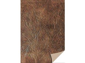 DESIGNER BLÖCKE  / DESIGNER PAPER 5 ark karton læder, mørk brun