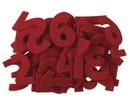Embellishments / Verzierungen Tal fra 1 til 24 i følte rødt