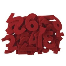 Numbers from 1 to 24 in felt red