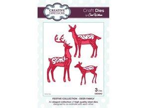 Creative Expressions Punzonatura e modello di goffratura, la famiglia di renna