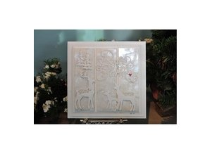 Creative Expressions Punching and embossing template, reindeer family