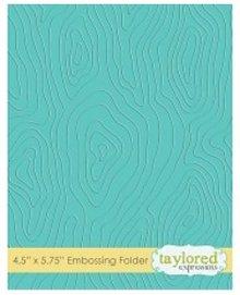 Taylored Expressions Embossingfolder, Holzmotiv