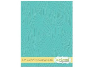 Taylored Expressions Embossingfolder, wood motif