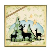 Punching and embossing template Lea'bilitie, reindeer