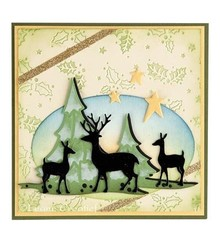Leane Creatief - Lea'bilities Punching and embossing template Lea'bilitie, reindeer