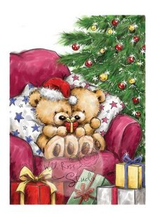 Wild Rose Studio`s Clear stamps, Teddy Beschärung