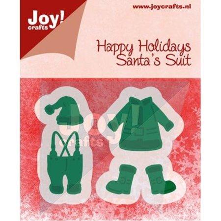 Joy!Crafts und JM Creation Y el estampado de la plantilla, ropa de Santa Claus