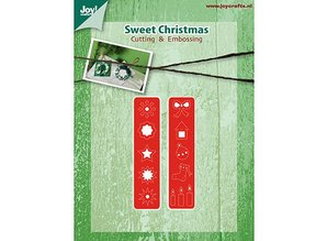 Joy!Crafts und JM Creation Stempling og Embossing stencil, julepynt til Kranz (Kh428759-6002 / 2039)