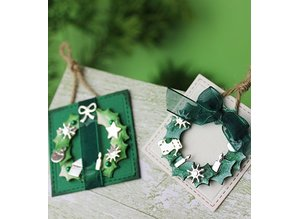 Joy!Crafts und JM Creation Stamping and Embossing stencil, christmas decorations for Kranz (Kh428759-6002 / 2039)