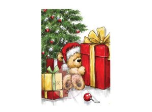 Wild Rose Studio`s Clear stamps, Teddy with Gift