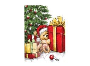 Wild Rose Studio`s Klare stempler, Teddy med Gift