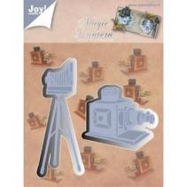 Stanz- und Prägeschablone, Joy Crafts, Fotoapparat auf Ständer, Zauberlaterne