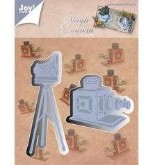 Joy!Crafts und JM Creation Stampaggio e goffratura stencil, Gioia Crafts, fotocamera sul cavalletto, Zauberlaterne
