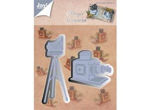 Joy!Crafts und JM Creation Stempling og Embossing stencil, Joy Crafts, kamera på stativ, Zauberlaterne