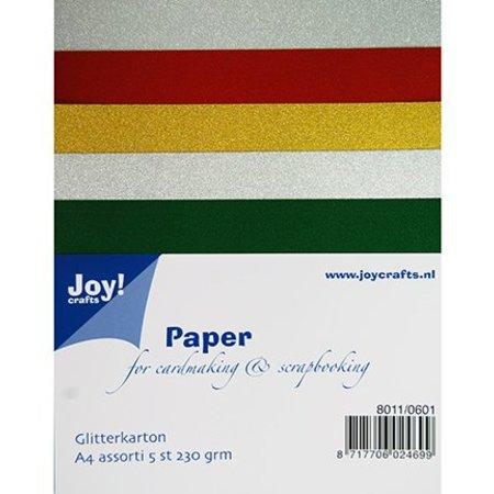 DESIGNER BLÖCKE  / DESIGNER PAPER Cartulina A4 Glitter