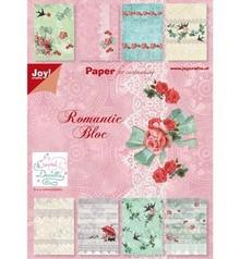 Joy!Crafts und JM Creation Paper bloc, A5 - Romantic Bloc ( Rosen und Schwalben)