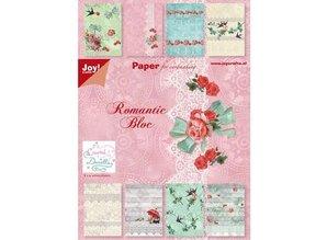 Joy!Crafts und JM Creation Blocco della carta, A5 - romantiche Bloc (rose e rondini)
