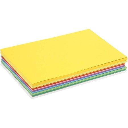 DESIGNER BLÖCKE  / DESIGNER PAPER Lykkelig Card, 30 assorterede ark, A4 21 x 30 cm, assorterede farver