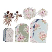 Beautiful Tilda Paper Tags Schilderen Bloemen ... fantastisch!