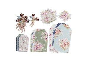Tilda Beautiful Tilda Paper Tags Painting Flowers ... fantastic!