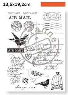 Marianne Design I timbri trasparenti, Huis posta aerea di Eline
