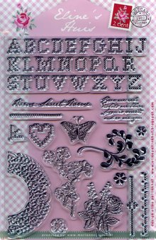Marianne Design Transparent stamps, Eline's Huis Kreuzstitch