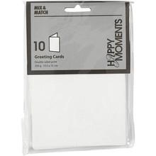 KARTEN und Zubehör / Cards Letter card size 10,5x15 cm, white, 10 pieces