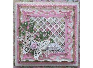 Spellbinders und Rayher Spellbinders Stamping and Embossing stencil, Shapeabilities, grid pattern
