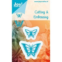Stampen en Embossing stencil, Joy Crafts, Butterflies