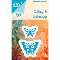 Stempling og Embossing stencil, Joy Crafts, Sommerfugle