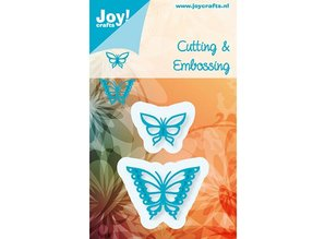 Joy!Crafts und JM Creation Stempling og Embossing stencil, Joy Crafts, Sommerfugle