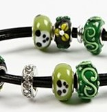 Schmuck Gestalten / Jewellery art Glasperlen Harmonie, D: 13-15 mm, grüntöne, 10 sortiert