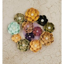 Flowers from Prima Marketing, Paper Flowers Tell Time, 12 flowers