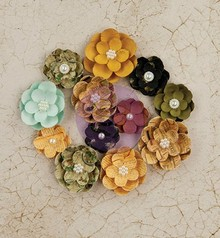 Prima Marketing und Petaloo Flowers from Prima Marketing, Paper Flowers Tell Time, 12 flowers